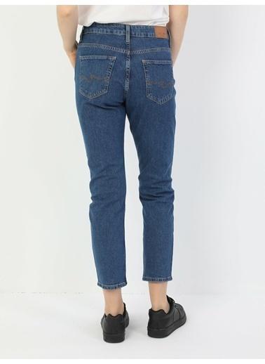 Colin's 891 Maya Orta Bel Daralan Paça Slim Fit Mavi Kadın Jean Pantolon Lacivert